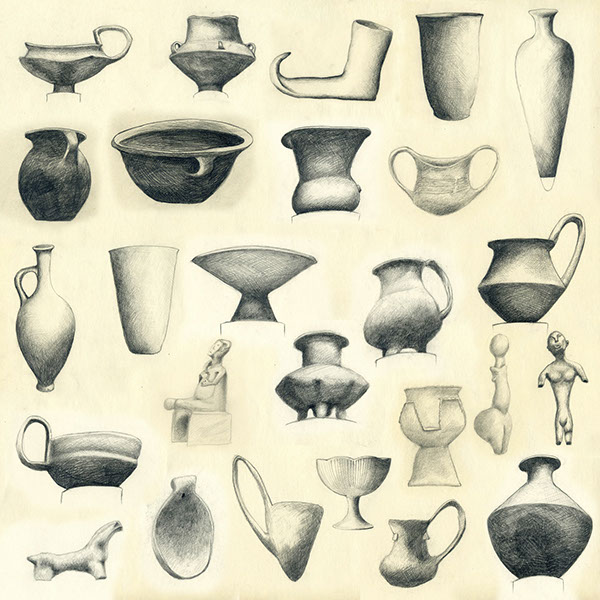 600x600 Bronze Age Pottery Study Drawing On Behance