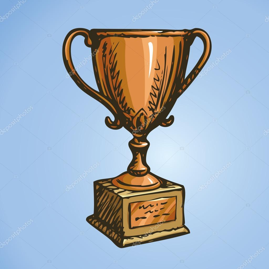 1024x1024 Bronze Cup Winner. Vector Drawing Stock Vector Marinka