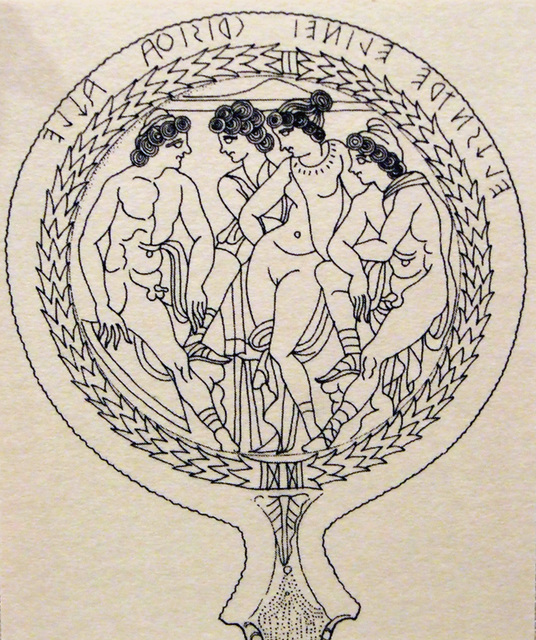 536x640 Ipernity Drawing Of An Etruscan Bronze Mirror With A Scene