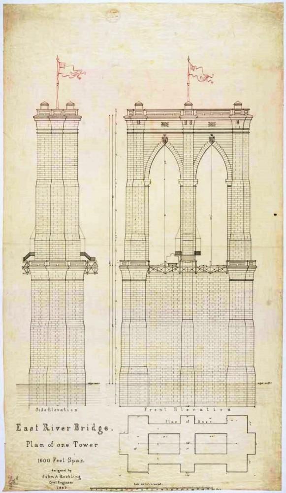 581x1000 Ad Classics The Brooklyn Bridge John Roebling Brooklyn Bridge