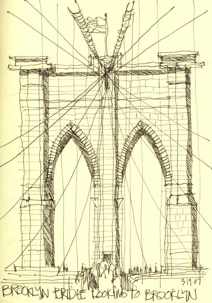 717x1024 brooklyn bridge the bridge nyc sketchy g flickr architectural drawings of bridges c62 bridges
