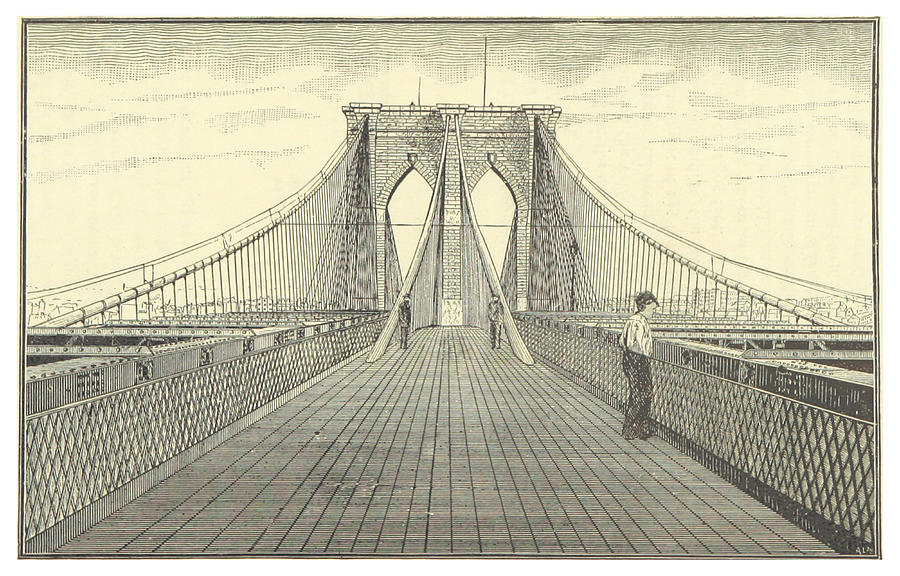 Brooklyn bridge drawing at getdrawings free for personal use 900x576 vintage brooklyn bridge illustration malvernweather Images