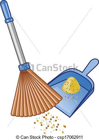 334x470 Broom And Dustpan Vector Illustration. Vector Clip Art