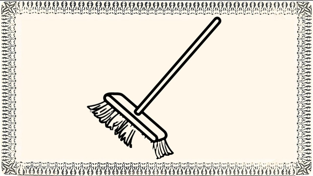 1280x720 How To Draw Broom