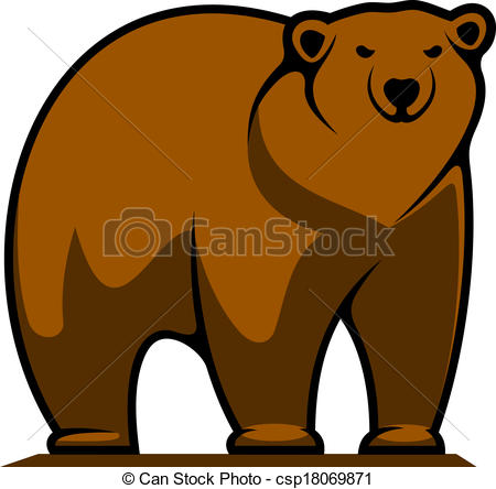 450x444 Brown Bear Drawing Clipart