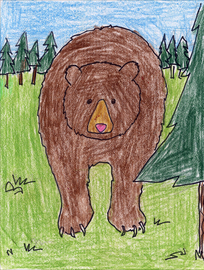 700x928 How To Draw A Grizzly Bear