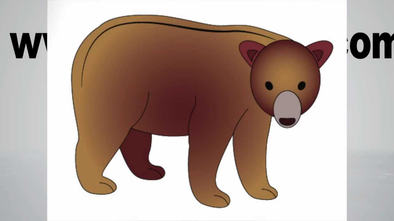 1280x720 How To Draw A Bear Step By Step
