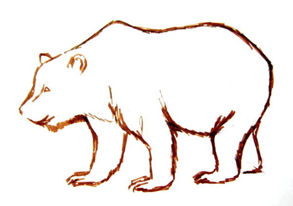 600x422 How To Draw A Brown Bear