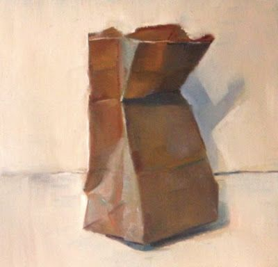400x384 Paintings By Jason Waskey Paper Bag (Sold) Studies For Students