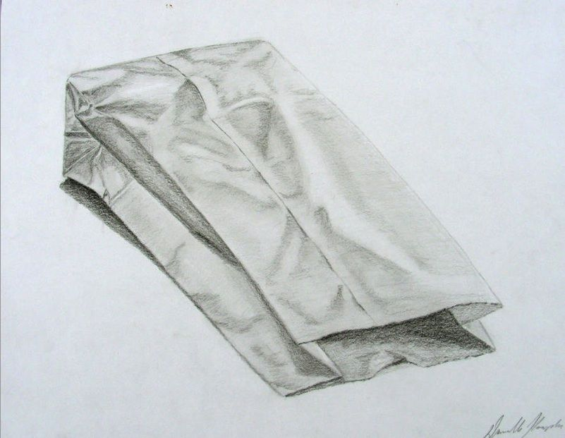 801x621 Paper Bag Drawing Drawing Tuto Bag, Draw And Sketches