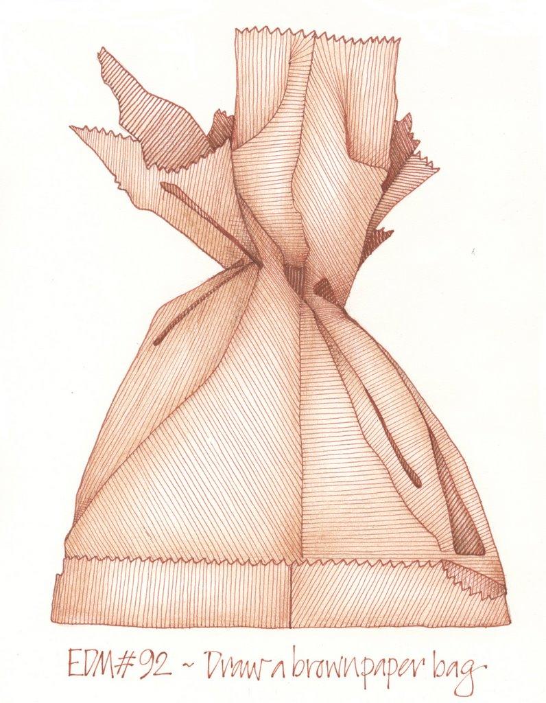 796x1024 Andrea Joseph's Sketchblog Edm 92 Draw A Brown Paper Bag