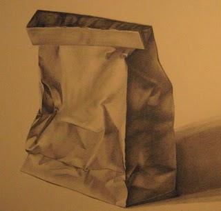 320x306 Paper Bag Drawings Watercolor Techniques, Art