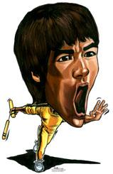 159x245 Caricature Of Bruce Lee By Jit Famous People Cartoon Toonpool