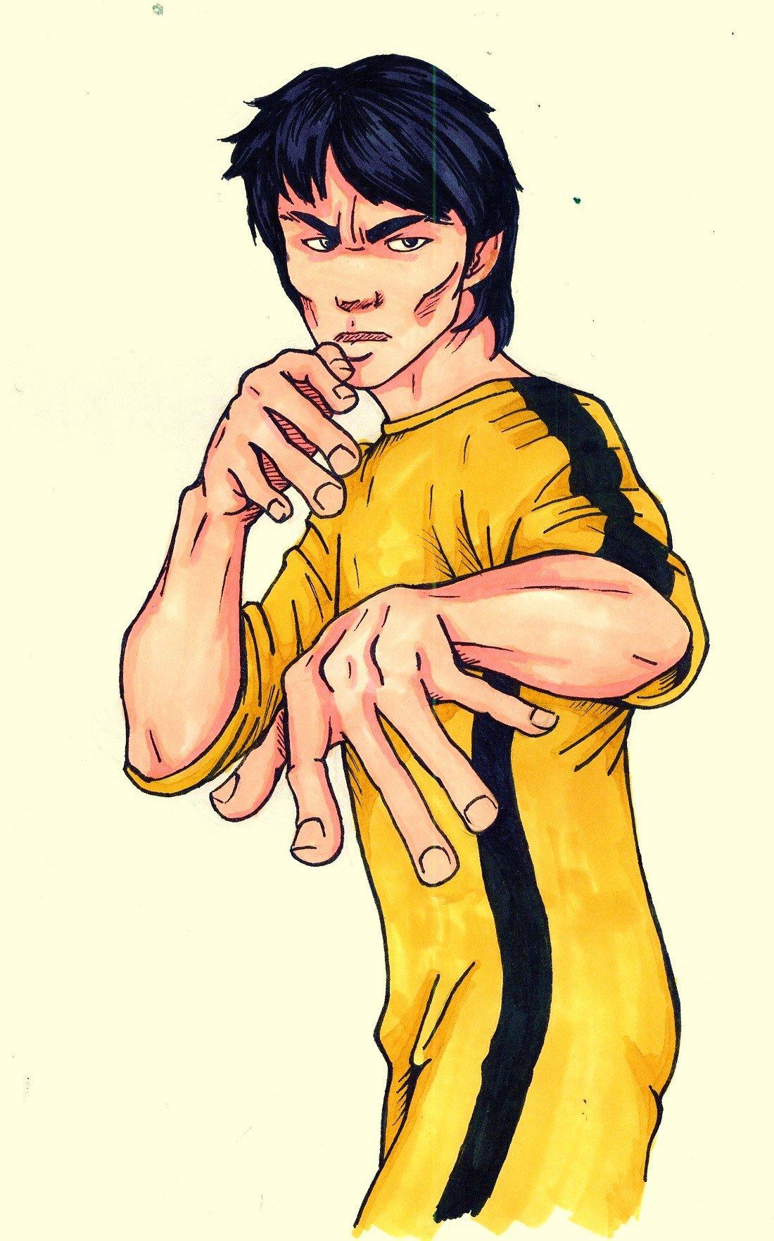 1100x1764 Cartoon Bruce Lee By Rayray892000
