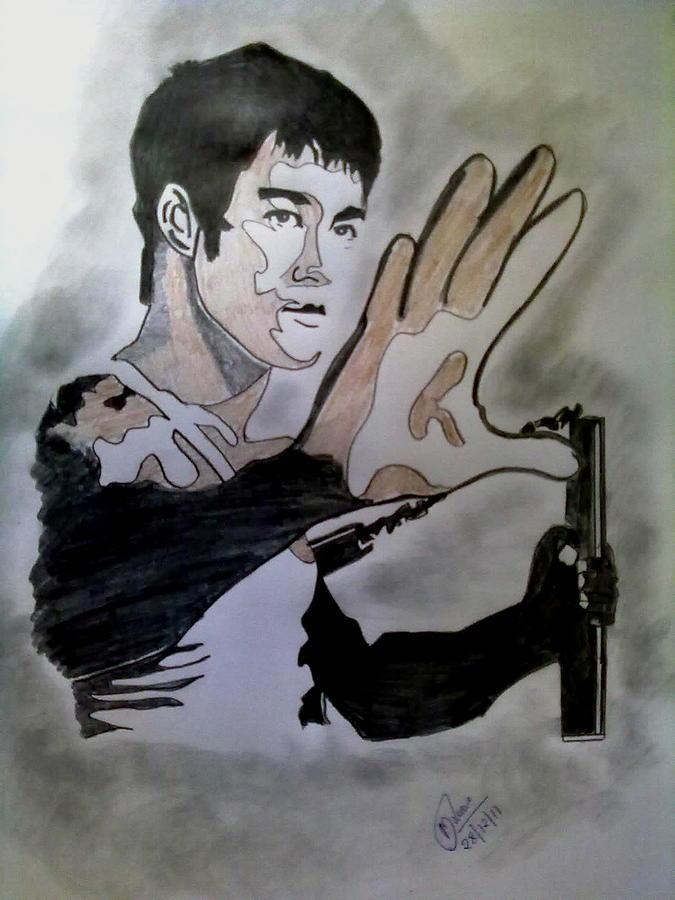 675x900 Bruce Lee Drawing By Mrunal Dhurwe