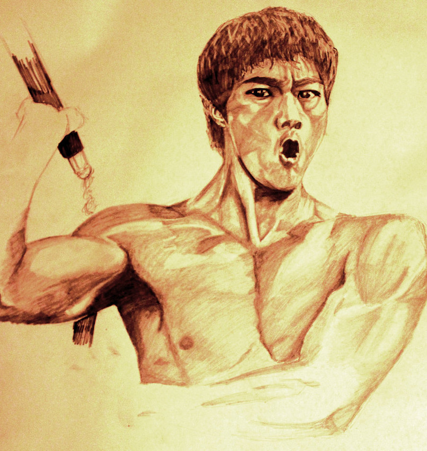 870x918 Bruce Lee Drawing By Jai4president