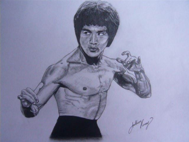 640x480 Bruce Lee Portrait Drawing By Loaded88