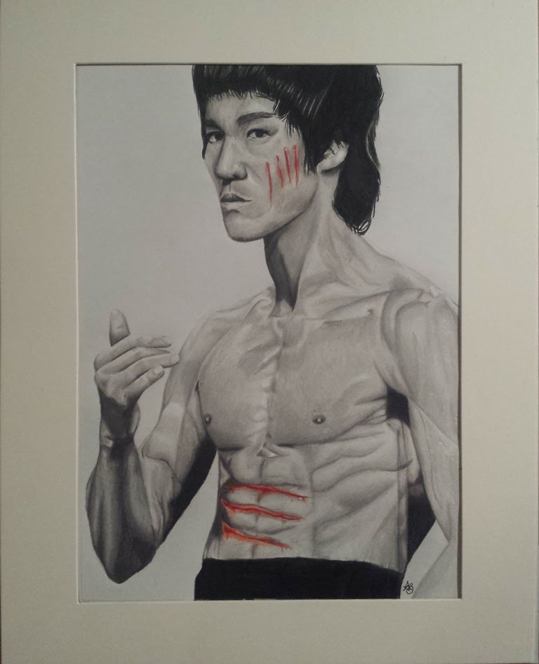 768x946 Bruce Lee Speed Drawing (Enter The Dragon)