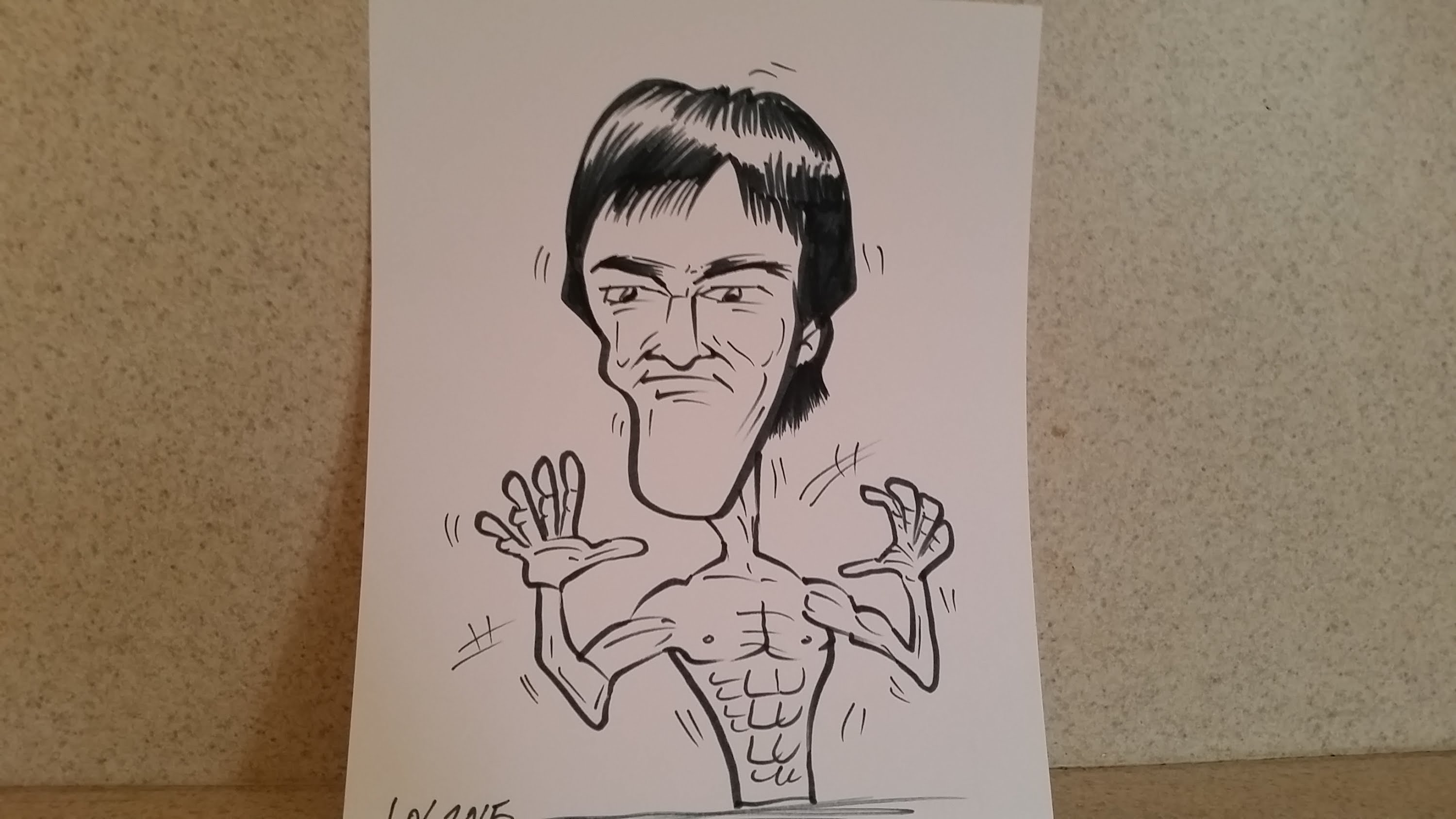 3000x1688 How To Draw Bruce Lee Caricature!!