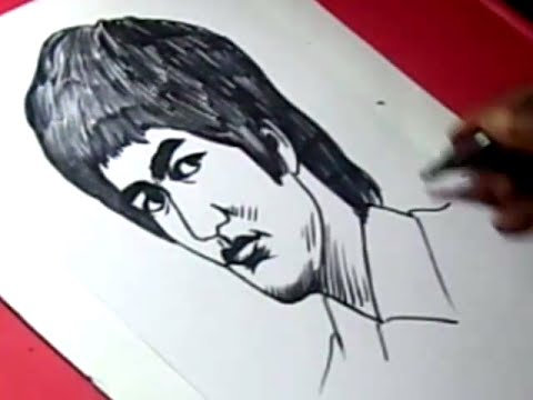 480x360 How To Draw Bruce Lee Drawing Step By Step For Kids