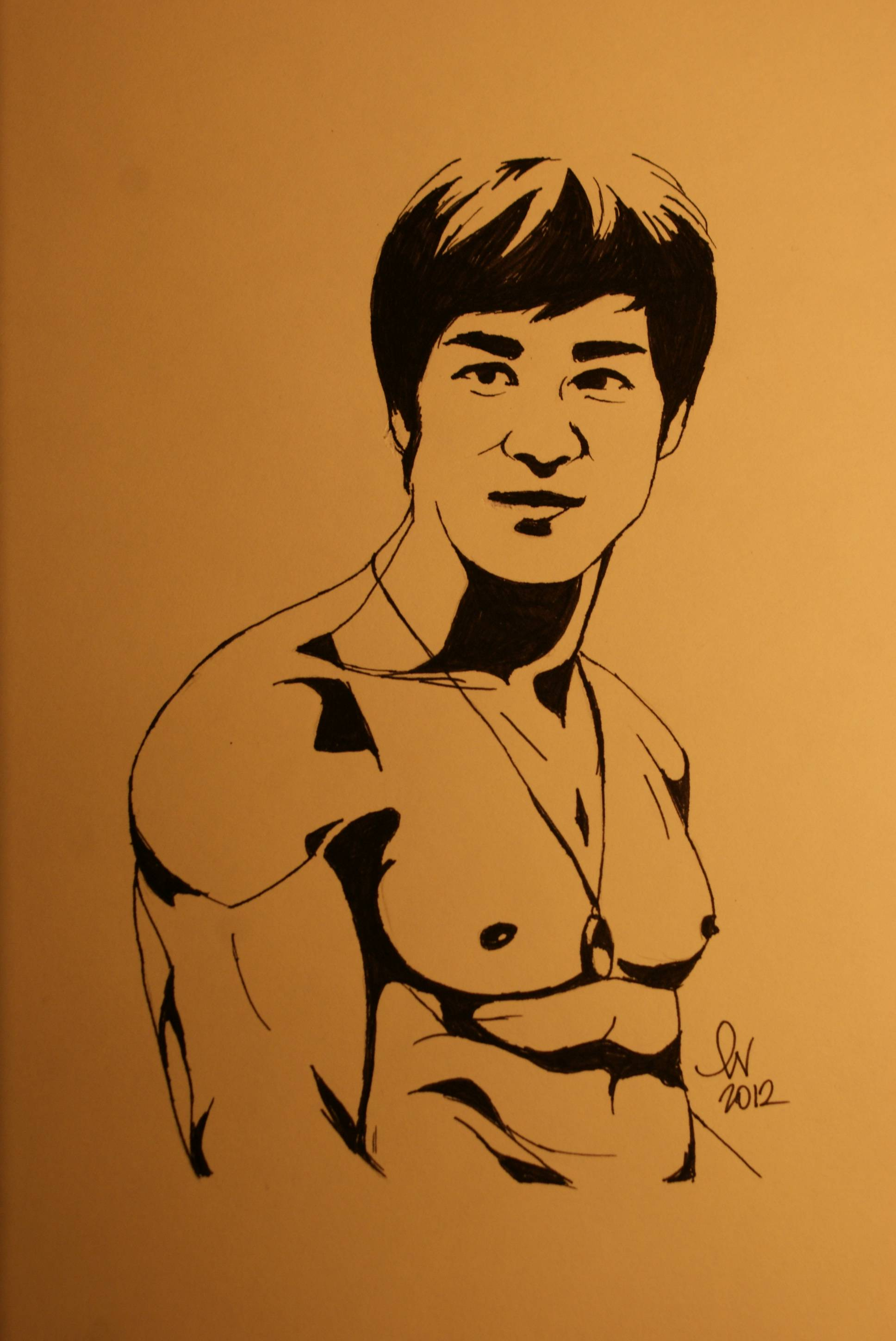 1936x2896 I Wanted To Draw A Simple Picture Of Bruce Lee Smiling, So I Did