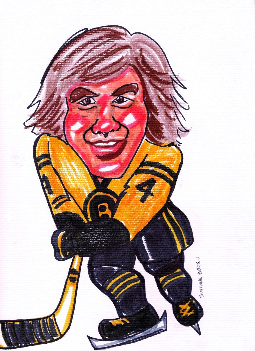 872x1200 Boston Bruins' Bobby Orr Caricature (Suzanne Berton)