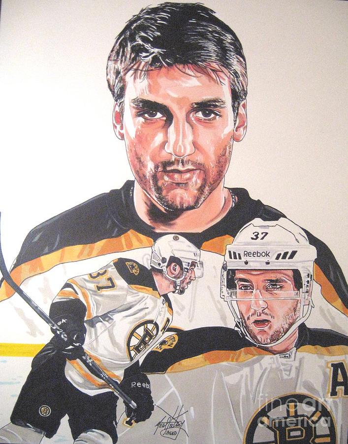 707x900 Patrice Bergeron Boston Bruins Drawing By Neal Portnoy