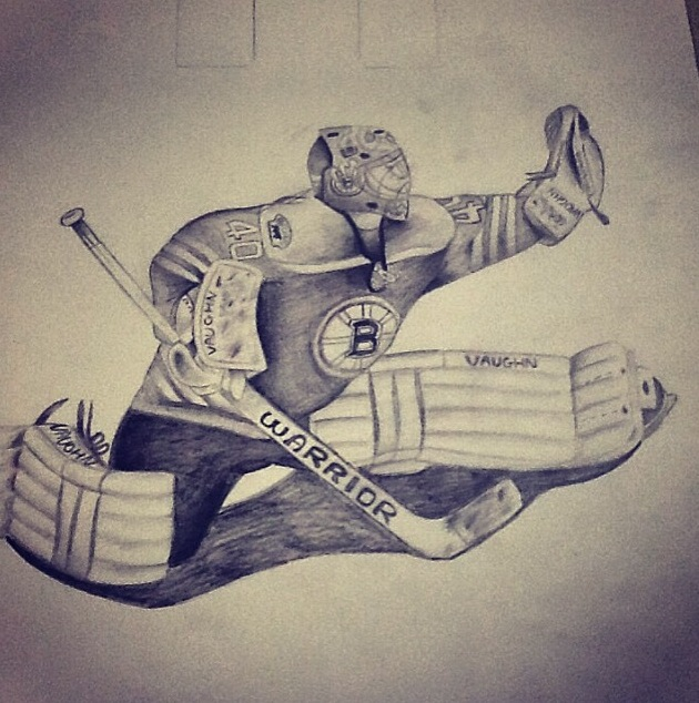 630x634 Tuukka Rask Boston Bruins Art Project Sketch By Xxxfleuryxxx