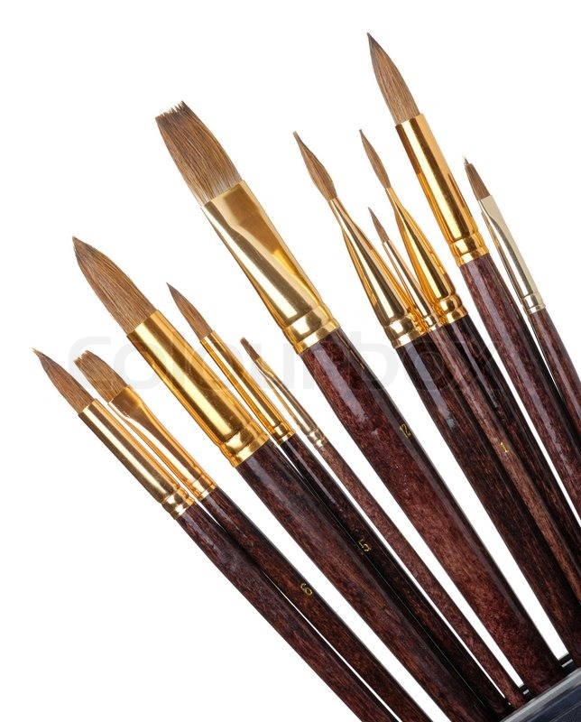 644x800 Paintbrush. Brushes For Drawing. It Is Isolated On A White