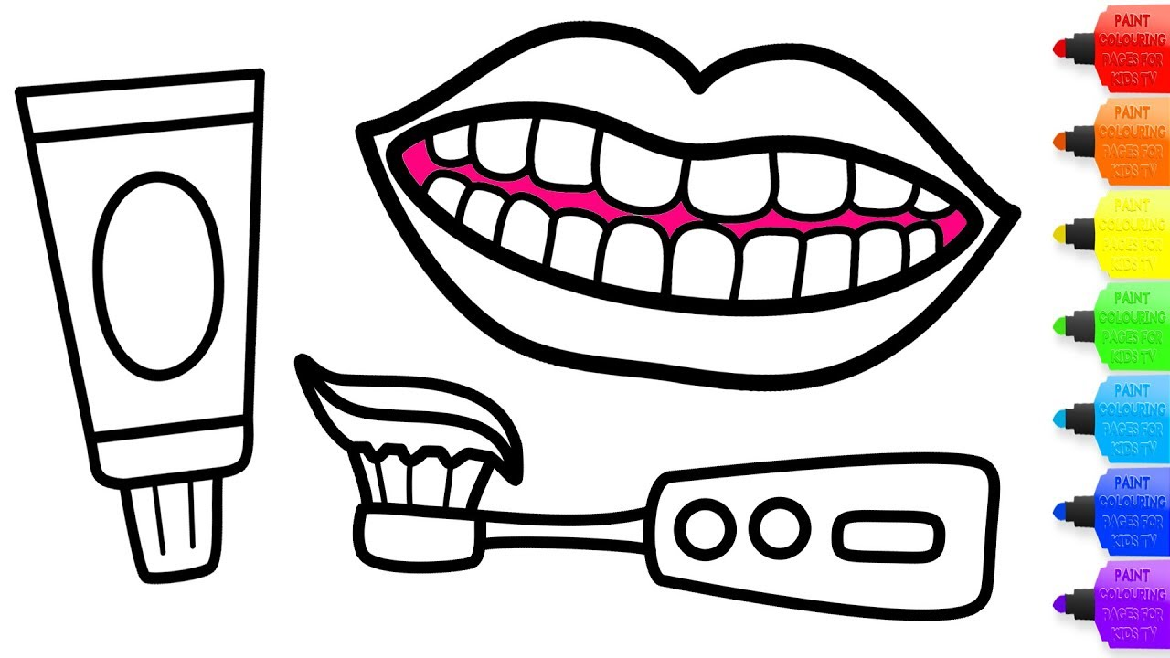 Brush Teeth Drawing at GetDrawings.com | Free for personal use Brush ...
