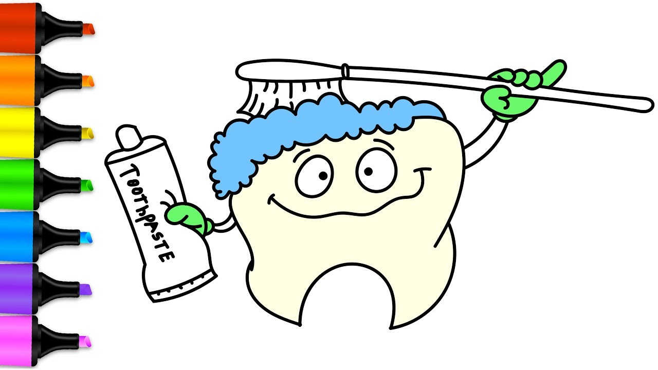 Brush Teeth Drawing at GetDrawings | Free download