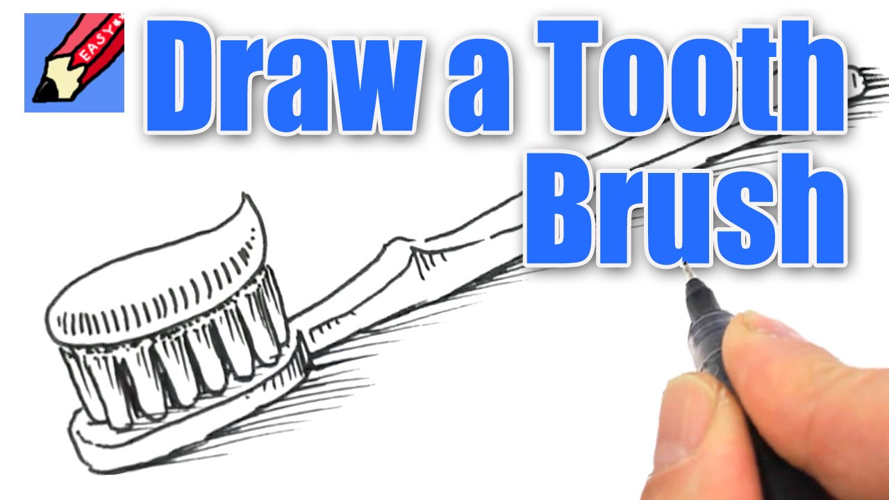 1280x720 How To Draw A Tooth Brush Real Easy