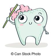 180x195 Tooth Brushing Itself. Cartoon Tooth Brush Cleans Itself Vector