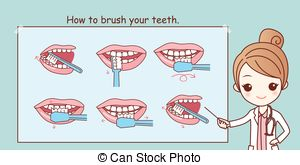 300x165 Brush Your Teeth. Motivatonal Poster For Kids Or Emblem