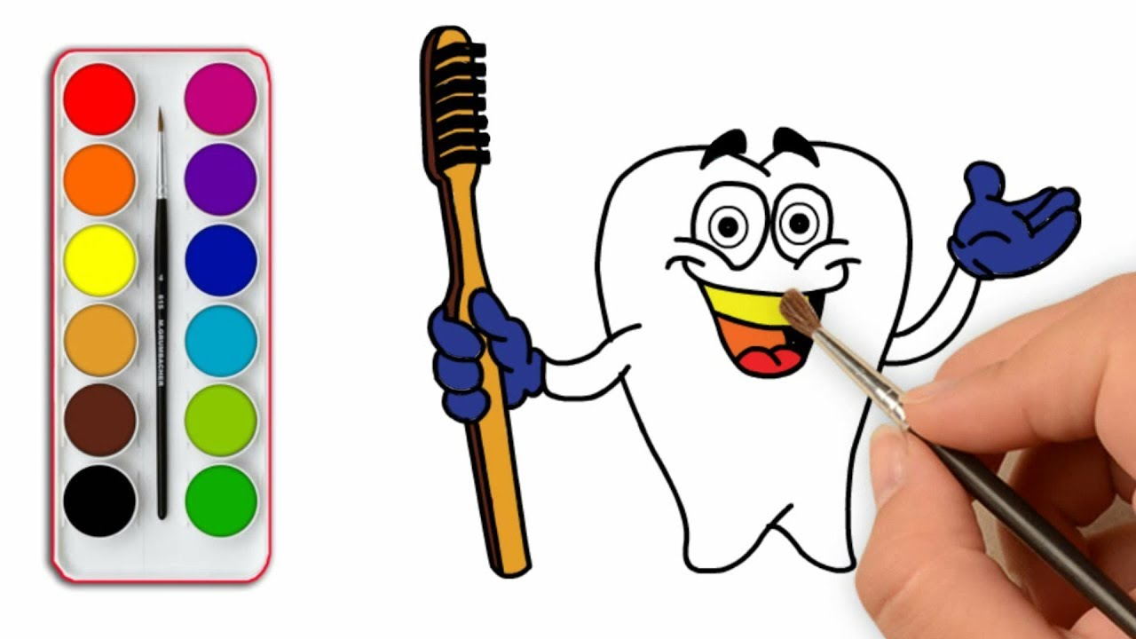 1280x720 Teeth And Toothbrush Coloring Pages