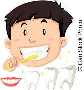 167x179 Boy Brush His Teeth Vectors Illustration