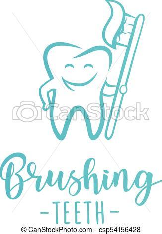326x470 Brushing Teeth' Inspirational Motivation Poster. Symbol