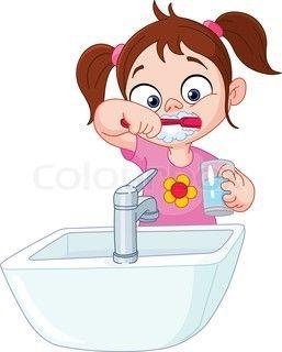 257x320 Girl Brushing Teeth Learning To Draw Little Kids