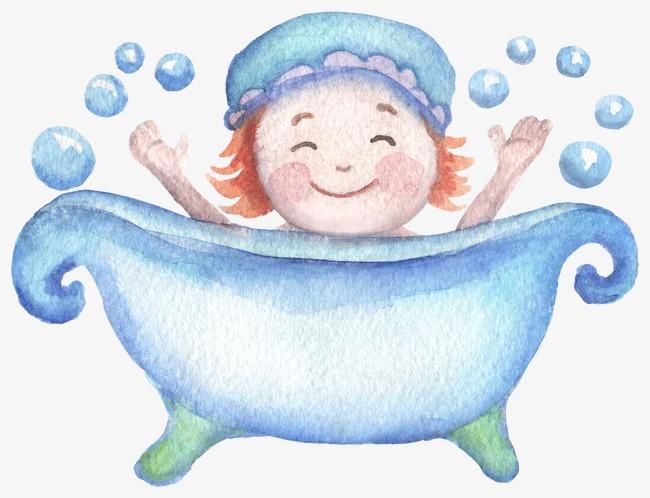 650x498 Children Bathe, Drawing Bathtub, Bubble Bath Png Image And Clipart