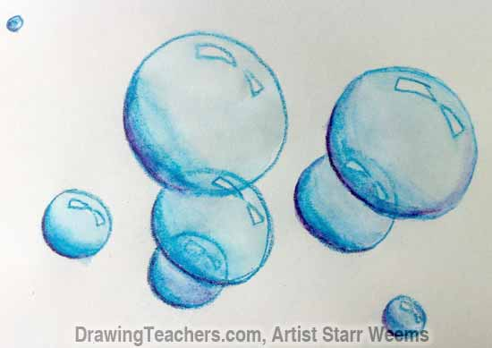 550x389 How To Paint Bubbles