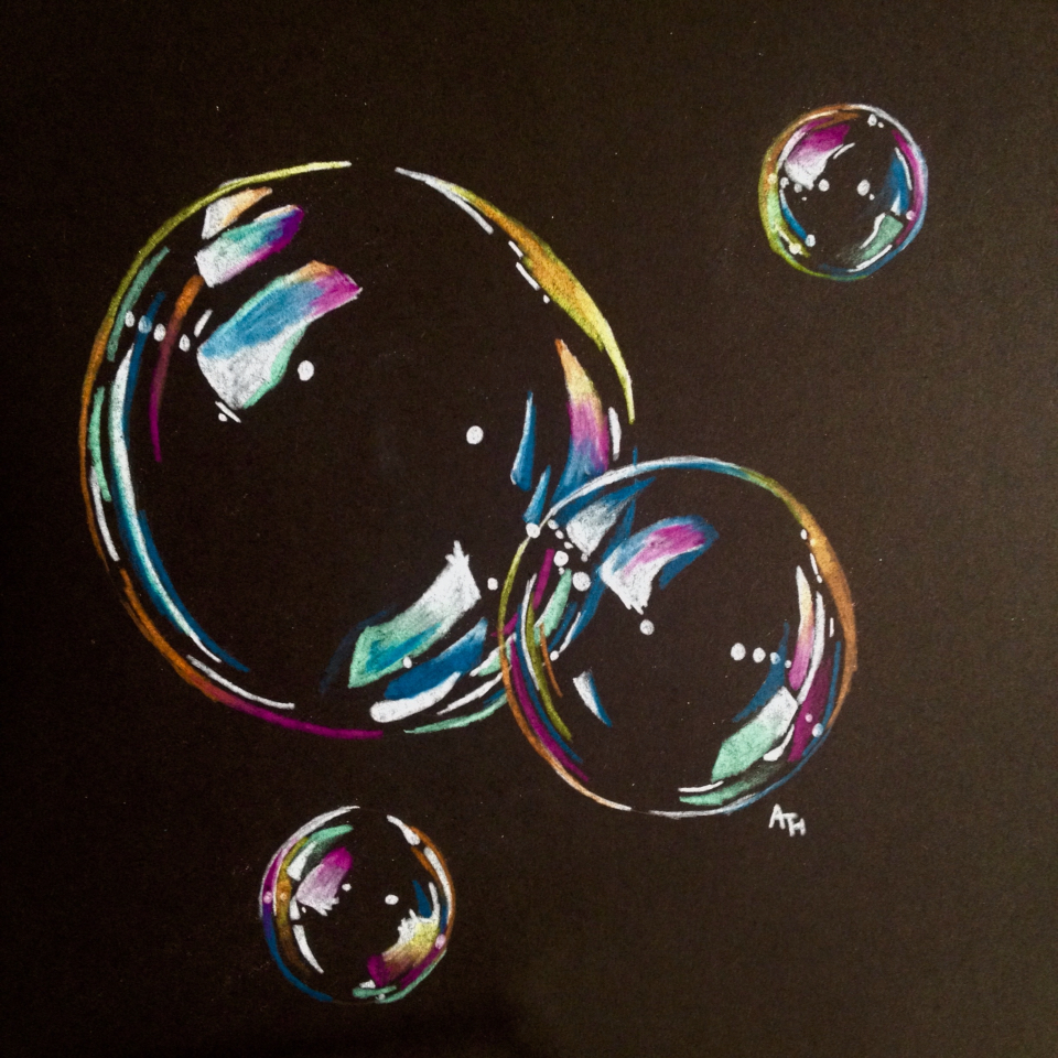 960x960 Second Time Using Black Paper! A Bubble Drawing By Adelaide H