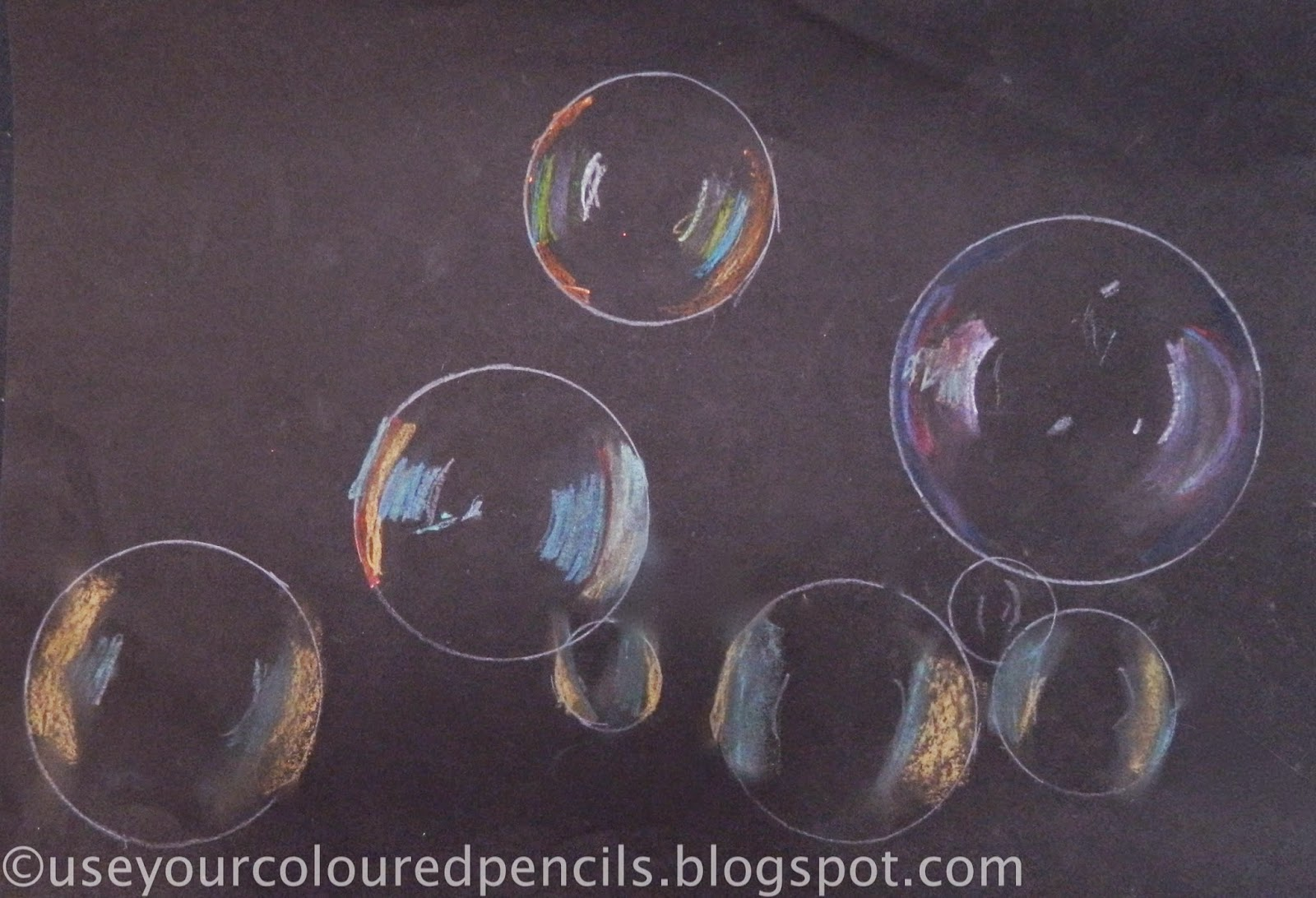 1600x1092 Use Your Coloured Pencils Bubble Drawings