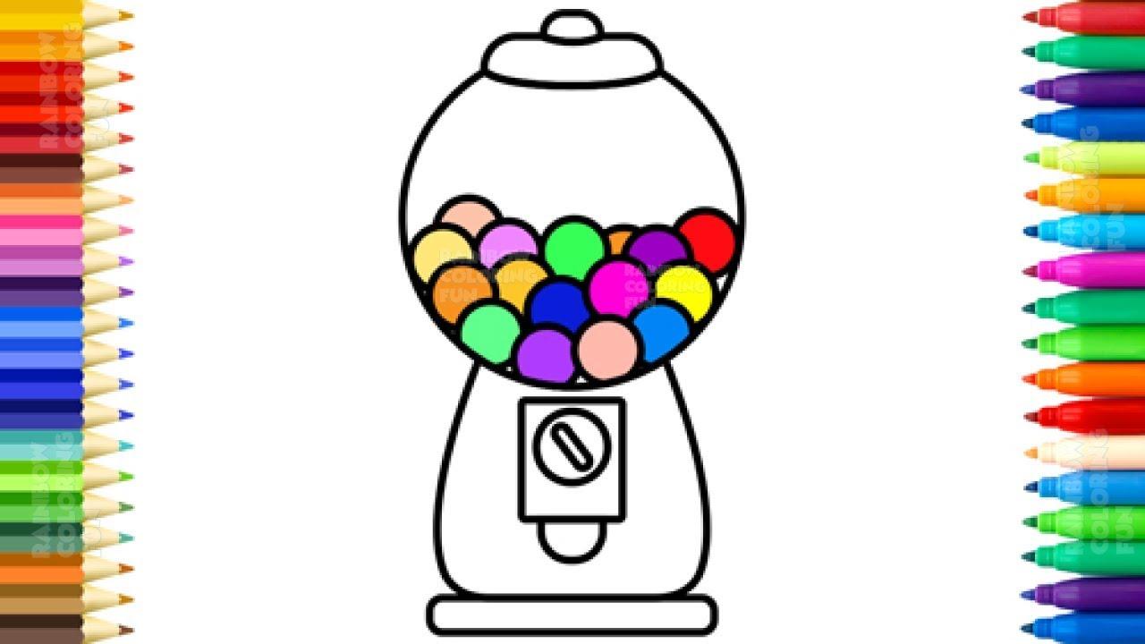 1280x720 Bubble Gum Coloring Book