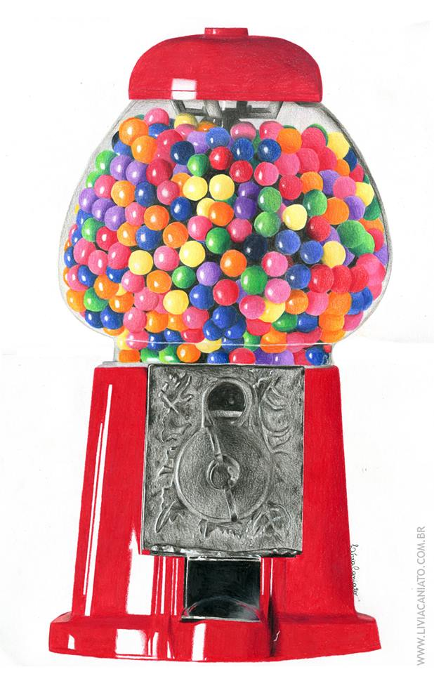 618x960 Gumball Machine Drawing Realistic Drawings By Me