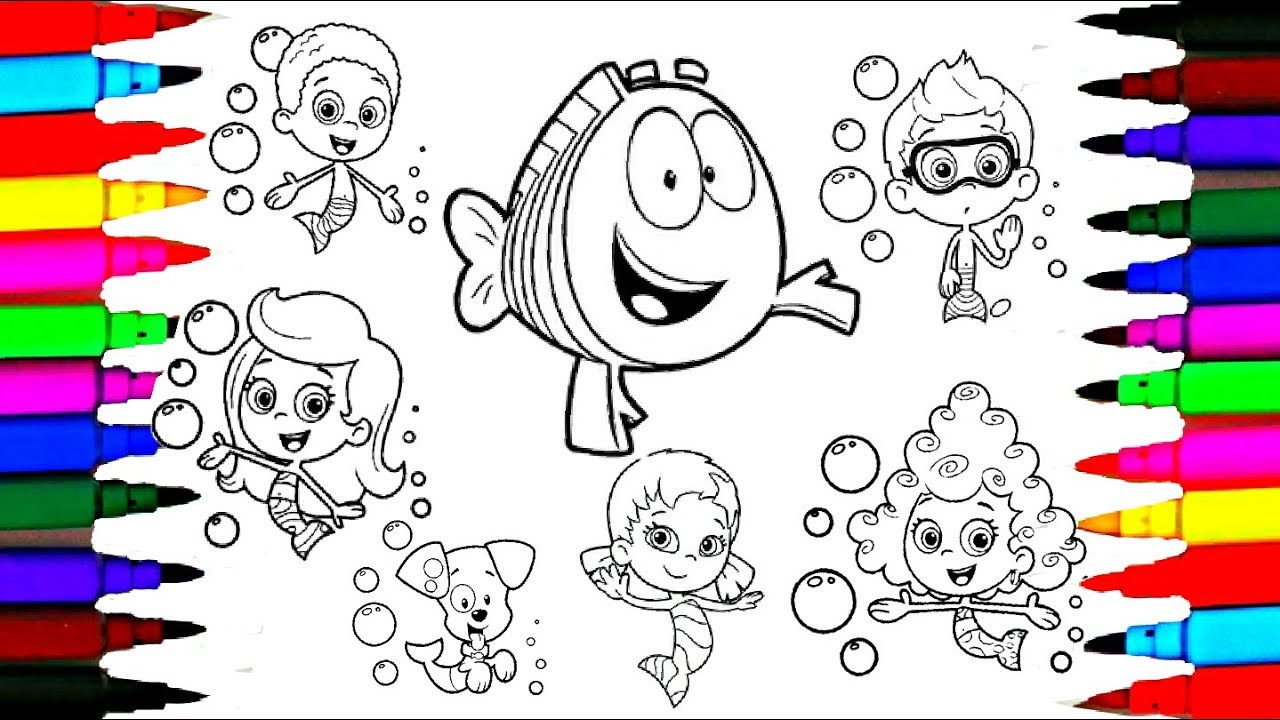 1280x720 How To Draw Bubble Guppies Coloring Drawing Pages L Learning