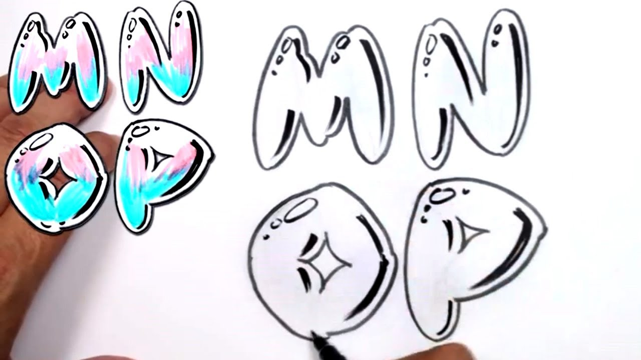 Bubble Letter Drawing At Getdrawings Com Free For Personal Use