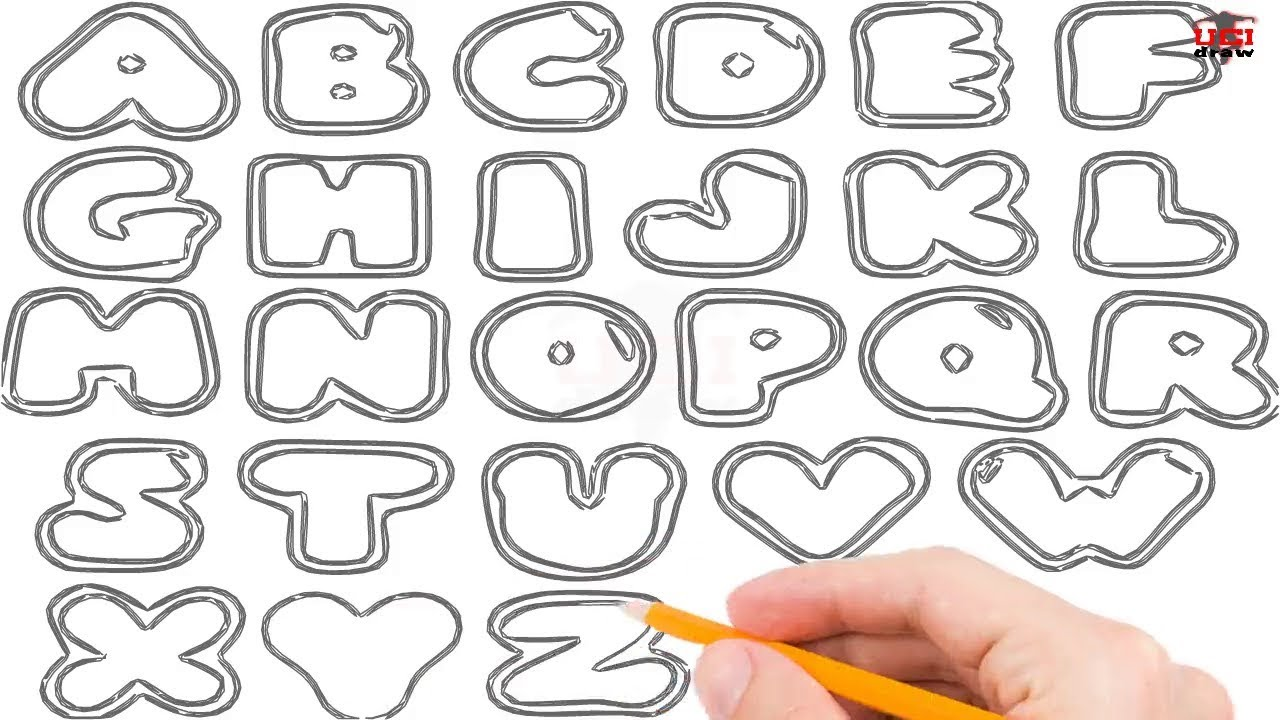 1280x720 How To Draw Bubble Letters Step By Step Easy For Beginnerskids