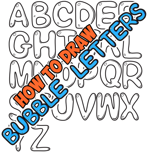 500x507 How To Draw Bubble Letters In Easy Step By Drawing Tutorial