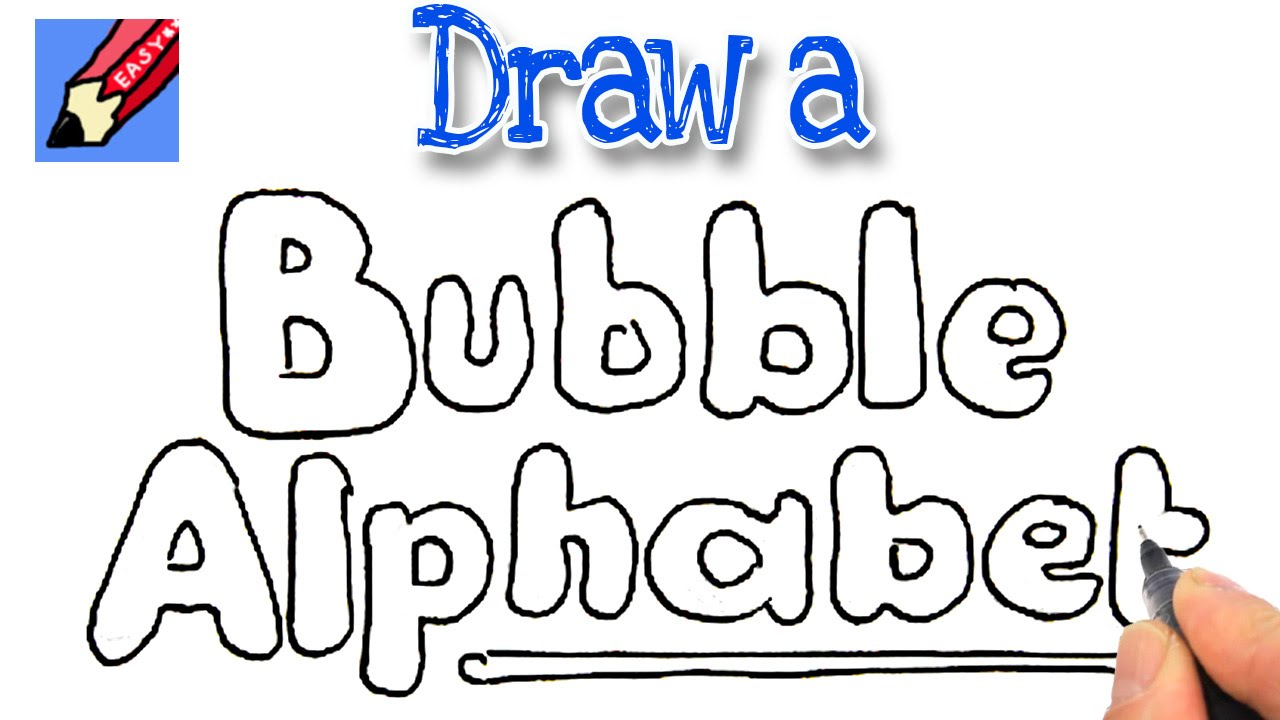 1280x720 How To Draw Bubble Writing Real Easy