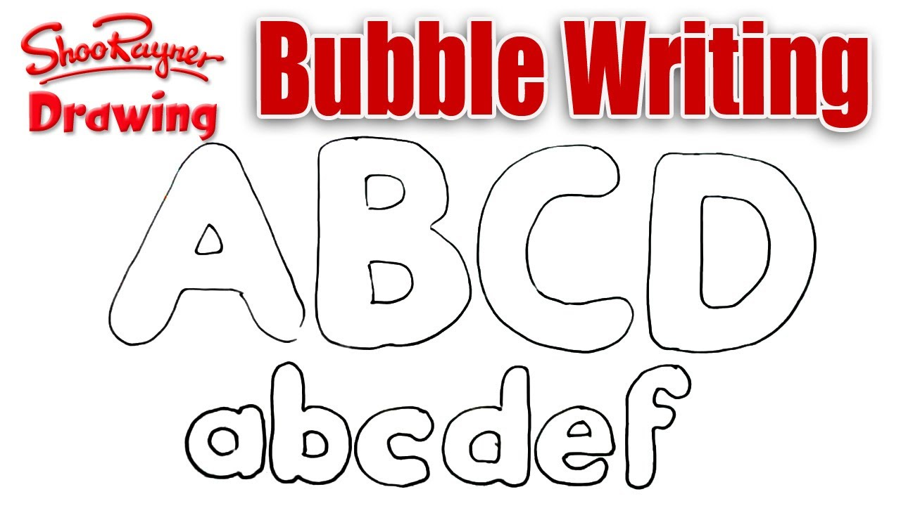 1280x720 How To Draw Bubble Writing